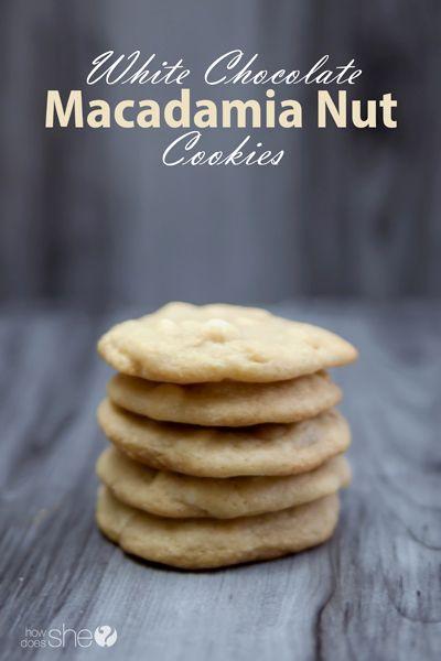 White chocolate, Chocolate and Macadamia nut cookies on Pinterest