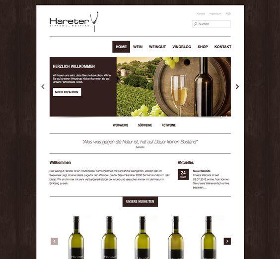 Guter Wein muss standesgemäß, hochwertig präsentiert werden. E1NSER gestaltete und programmierte den neuen Internetauftritt für das österreichische Weingut. Im Vordergrund stand in erster Linie die Hochwertigkeit sowie die Präsentation der Produkte.