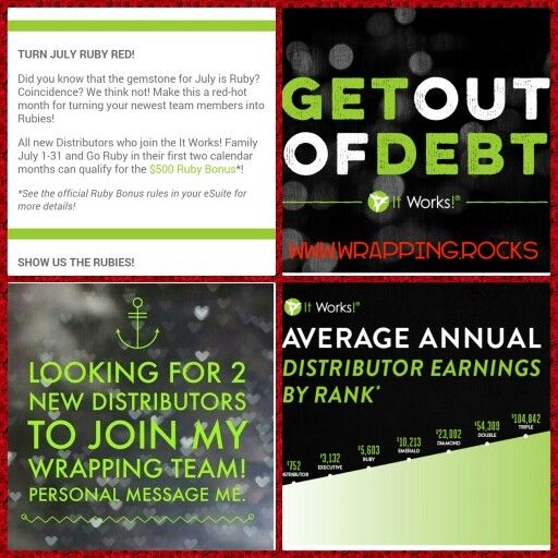 Act now! Don't let this door of opportunity shut on you! Like this pic and lets talk business! Check out my site for additional details as well! Krystalkwraps.myitworks.com or fb wrapping.rocks