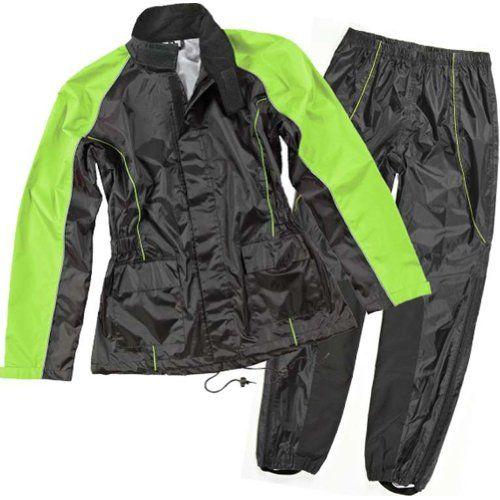 Joe Rocket Rs-2 Women's 2-piece Street Motorcycle Rain Suits - Black/hi-viz / Large http://www.motorcyclegoods.com/top-20-best-rain-jacket-women/