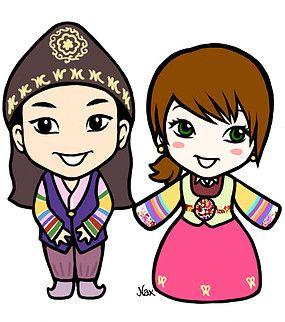 Cute couple wearing korean clothes (hanbok), illustration by Nax illustration, kokonax (Naver blog :  http://blog.naver.com/kokonax ) Follow : https://www.facebook.com/naxillustration and https://www.behance.net/kokonax