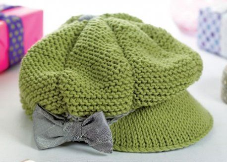 Knitting Pattern For Peaked Beanie : Peaked cap, Free knitting and Knitting patterns on Pinterest
