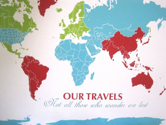 World Map Mounted on Foam Board Blank Pinnable Map 16X20 Inches – Travel Map Of The World