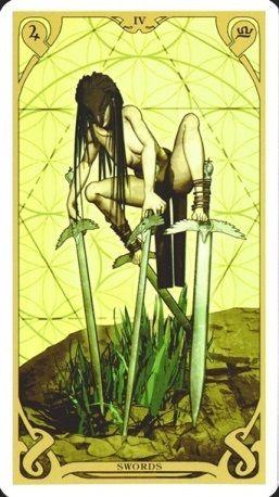 Four of Swords, Night Sun Tarot
