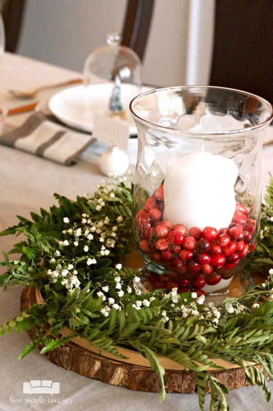 Easy Diy Christmas Centerpiece Two Purple Couches Diy