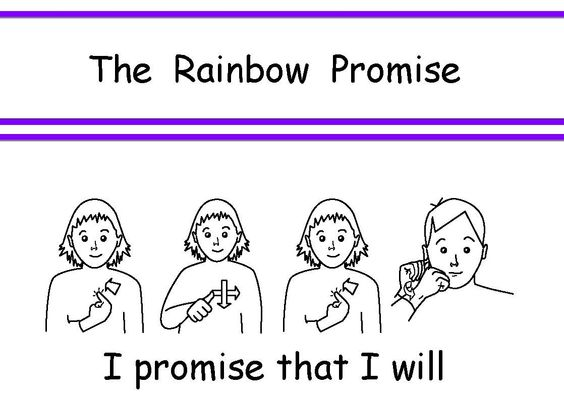 Craft for the new Rainbow Guide Promise I can email the template - rainbow template