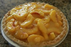 Fresh Peach Pie  Don't know why I can't find it unbaked in the mid west.  My fav.  With a pile of whip cream.  I could eat it as a meal.  Marie Calender's Style.