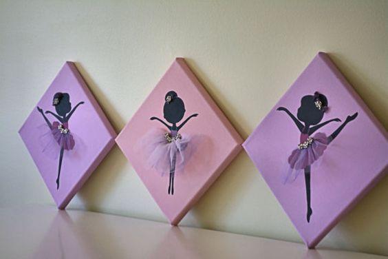 cuadro habitacion adolecente Dancing Ballerinas. by FlorasShop on Etsy, $37.00