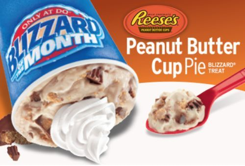 Peanut Butter Cup Pie is the Blizzard of the Month at Dairy Queen