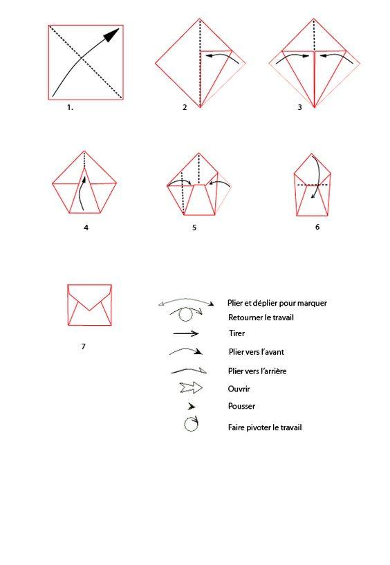 Croquis origami de l 39 enveloppe imprimer croquis - Faire une enveloppe avec une feuille ...