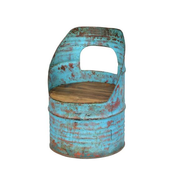 Anyone good with an angle grinder??? Oil drum chair / Vintage chairs from Andy Thornton