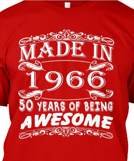 50th Birthday Party, 50 Years Old And Party Shirts On