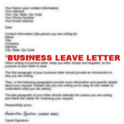 How to Write Business Leave Letter Resignation Letter - heartfelt resignation letter