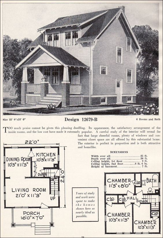 Traditional 1920s and craftsman bungalows on pinterest for 1920 craftsman bungalow floor plans