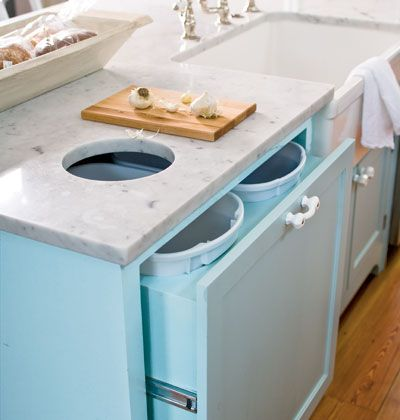 Countertop Garbage Can : ... countertop helps guests locate the garbage can and makes cleanup