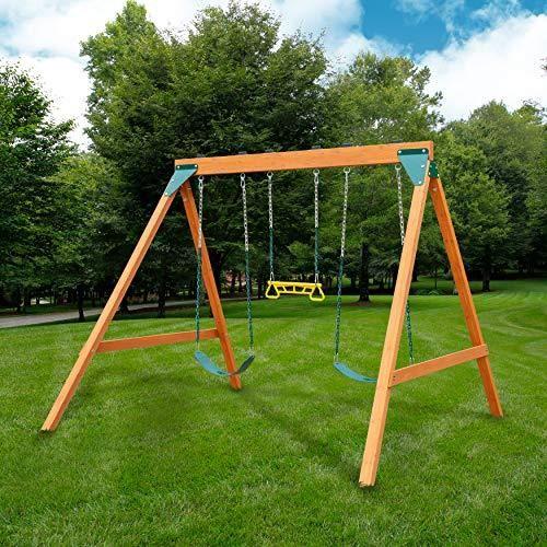 Rustic Wooden Swing Set Homemade Swing Set Homemade Swing