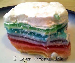 12-Layer Christmas Jello Salad