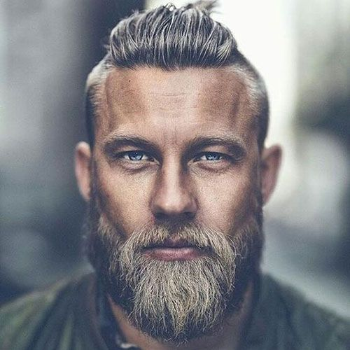 Top Knot with Thick Beard