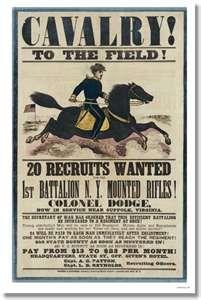 Cavalry! U.S. Civil War Recruitment Poster