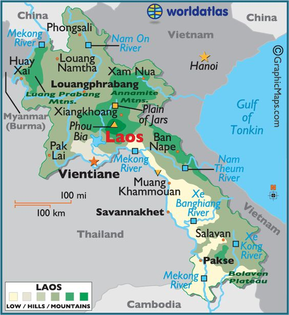 We'd have to drive through Laos on the way to Thailand.  I want to see cool things in Laos.