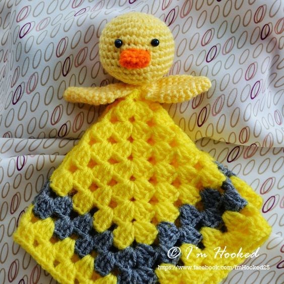 crochet lovey, free pattern _ chicken or duckling ...
