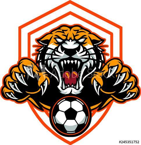 Tiger Football In 2021 Nature Logo Design Football Logo Design Art Logo