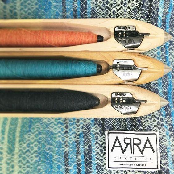 Fly shuttles and throws on the @topdrawerlondon craft stand CR303 #interiors #textiles #weaving #merino #wool #choosewool #makingprogress #madeinscotland #slowfashion #zerowaste #handmade #craft #topdrawerlondon #experiencetheedit #arratextiles