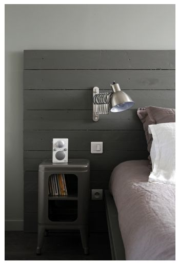 T tes de lit planches and t te lit on pinterest - Tete de lit planche bois ...