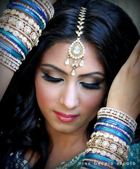 Indian Bridal Hair/Makeup More Inspiration @ Http//www.ModernRani.com | Wedding Hair U0026 Make Up ...