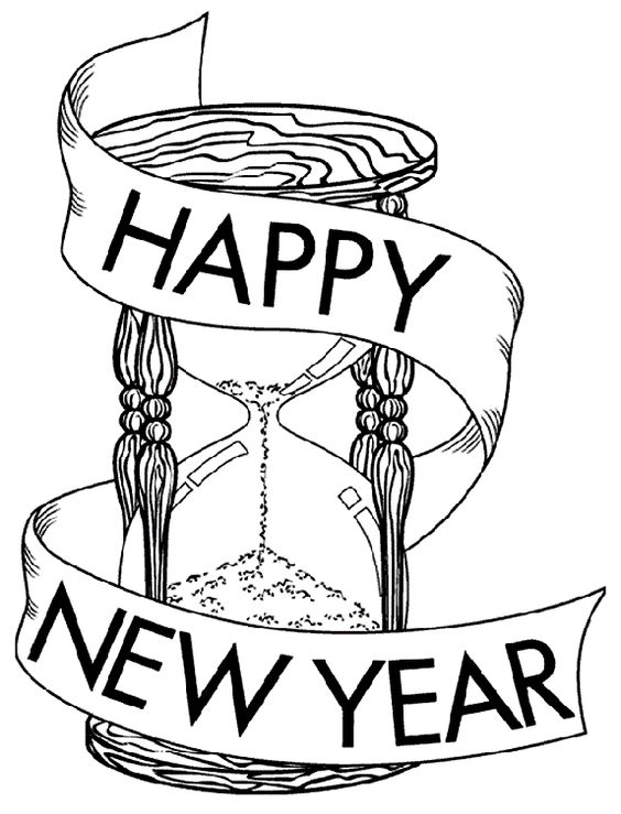 Hourglass For New Year 2016 New Year Pinterest Year 2016, New - new turkey coloring pages crayola