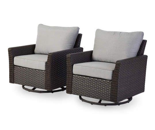 piece cushioned patio swivel glider set