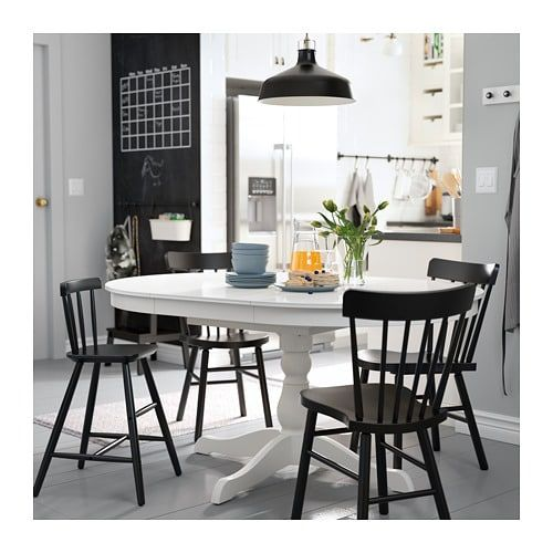 Ikea Ingatorp White Extendable Table In 2019 Dining Table Design