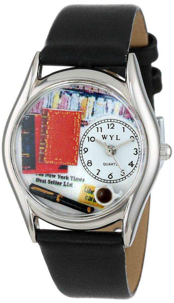 Book Lover Black Leather Watch from Whimsical Watches: