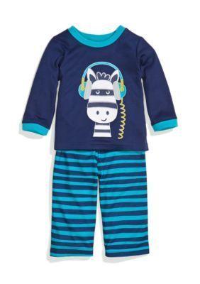 Little Me  2-Piece Zebra Stripe Pajama Set Toddler Boys