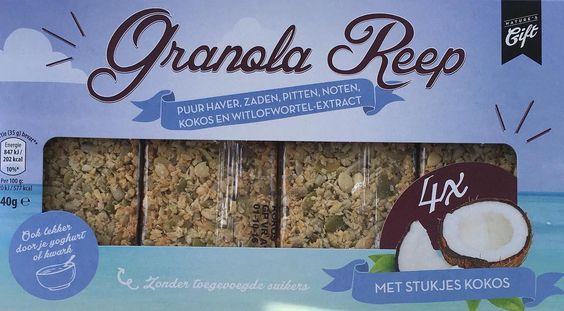Granola repen bevatten 29 khd per reep heerlijk als tussendoortje of door de yoghurt heen! Verkrijgbaar bij de Aldi. by loversoffoodd