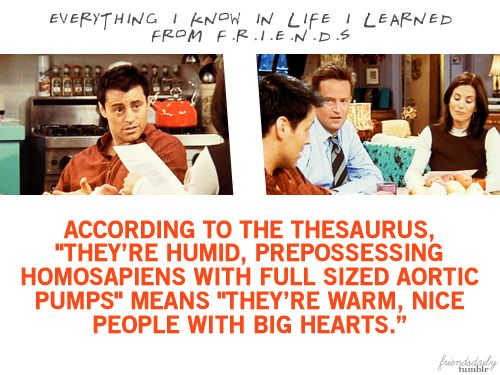 Joey Reference Letter Friends