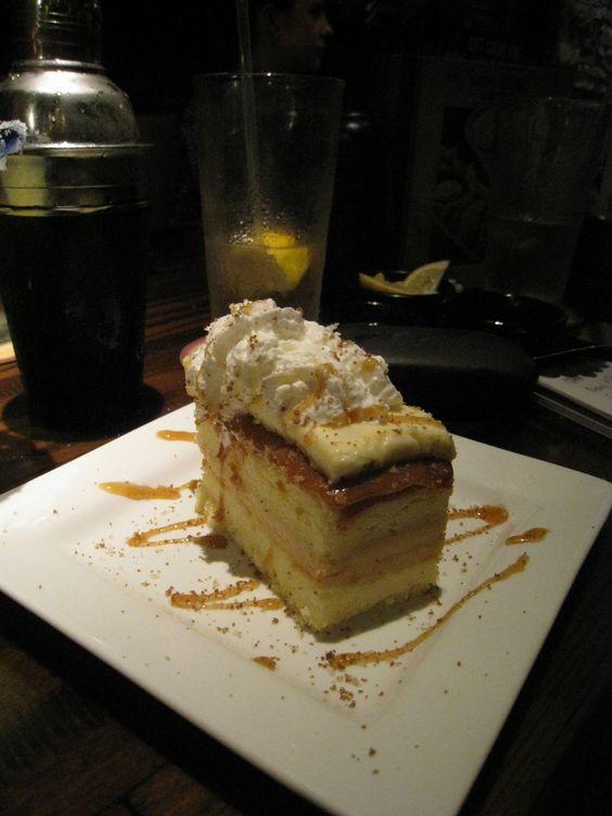 Salty caramel cake at Longhorn http://healthygirladventures.wordpress.com/2013/03/28/flavorful-500-at-longhorn-steakhouse/