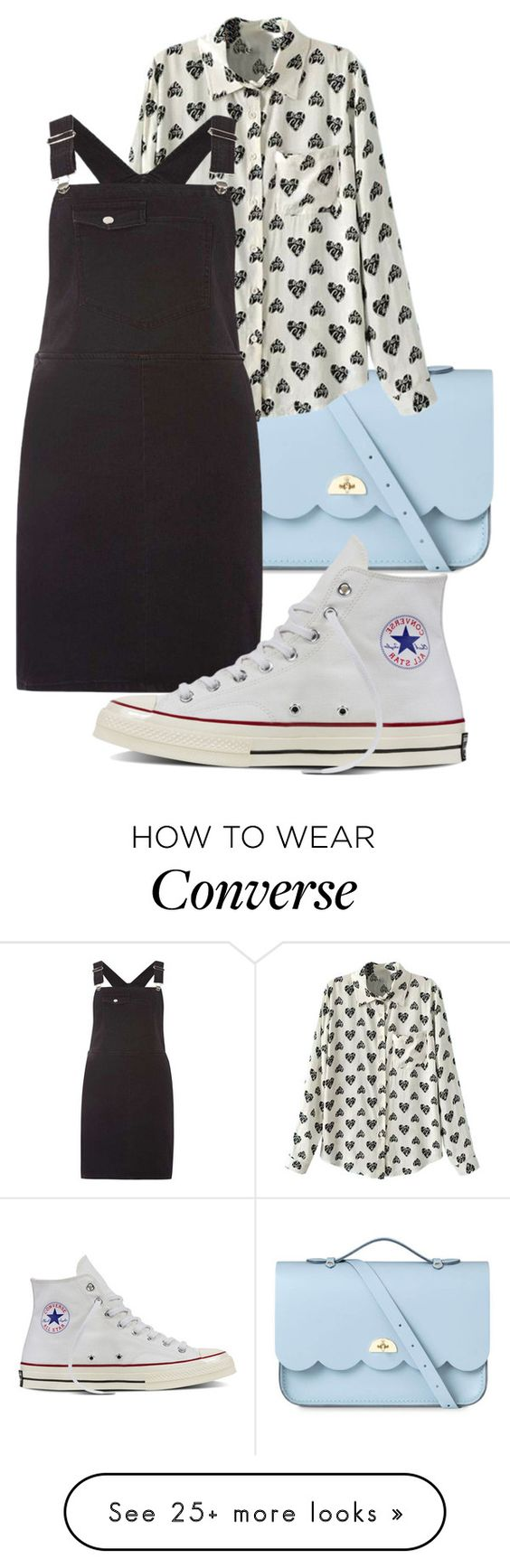 """""""I Started A Joke"""" by mina-xoxo on Polyvore featuring The Cambridge Satchel Company, Dorothy Perkins and Converse"""