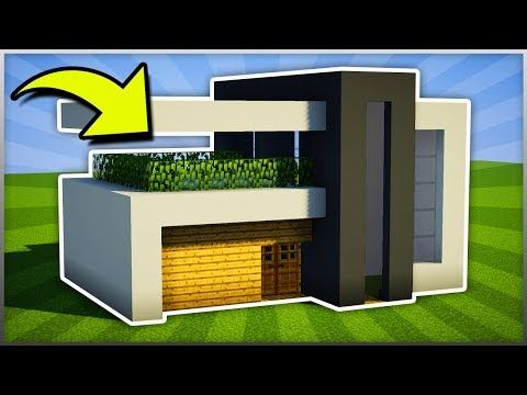 Minecraft How To Build A Easy Small Modern House Tutorial 5 Pc Xboxone Ps4 P Minecraft Small Modern House Modern Minecraft Houses Minecraft House Designs