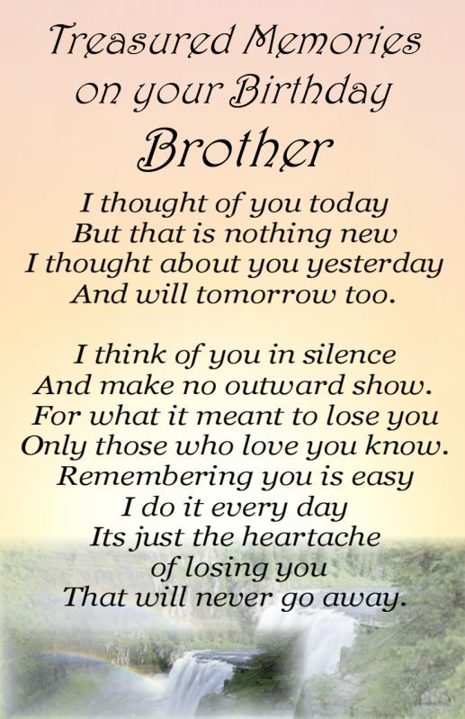 Bereavement Grave Card BROTHER Birthday my no 64 – Happy Birthday Card for My Brother