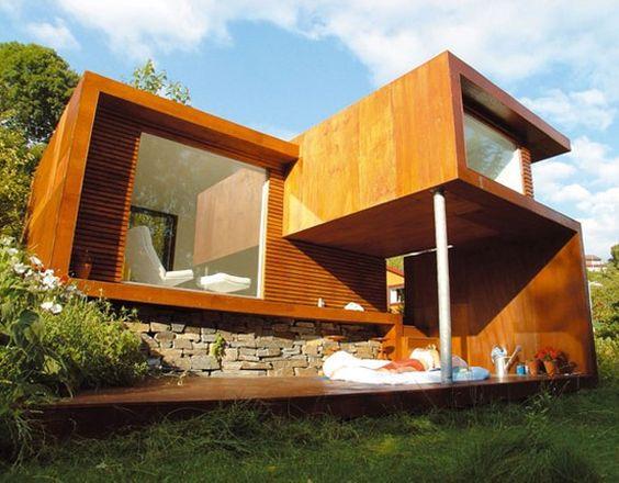 Résidence d'été à Stavanger, Norvège Le projet reflète le style de vie moderne scandinave: ni trop excentrique, ni trop commun, l'équilibre étant un facteu