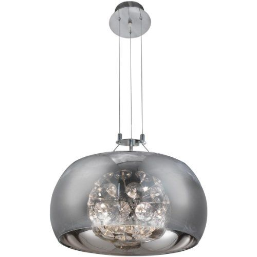 Searchlight 2826-6CC Curva 6 Light Ceiling Pendant Polished Chrome Searchlight  From Ocean Lighting