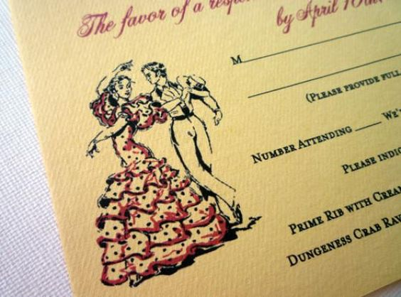 flamenco wedding | Flamenco Wedding Invitation
