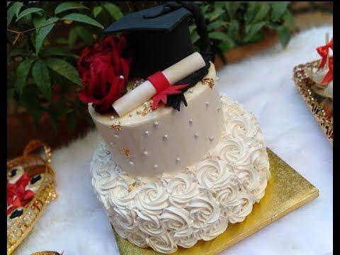 طريقة تزيين كيكة تخرج او نجاح بكالوريا Youtube Desserts Birthday Cake Cake