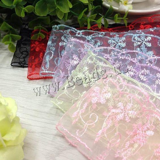 Cinta de Encaje, Flor, más colores para la opción, 65mm, 150patiospatio/Grupo, Vendido por Grupo,Abalorios de joyería por mayor de China