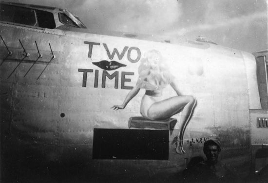 "Nose Art of the Southwest Pacific Area - ""Two Time"" - B24, 13th A.F., 5th Bomb Group, 72nd Bomb Squadron - Serial #44-40546 - Sharpe 28 Thomas Sharpe Collection"