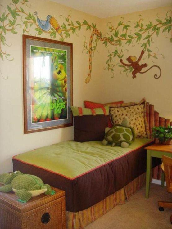 Home Art Themed Kids Room Safari Living Rooms Bedroom Themes
