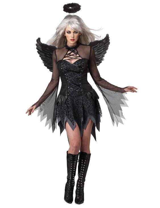 Disfraz Ángel Caído negro para mujer: Este disfraz de ángel caído para mujer…