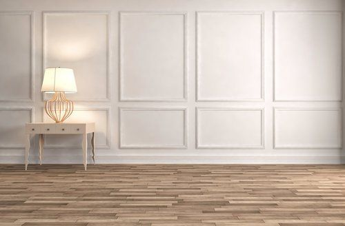 Average Cost To Install Wainscoting Is About 3 855 12x12 Foot Room Of Solid Wood Flat Panel Wainscot Wit In 2020 White Wainscoting White Paneling White Wall Paneling