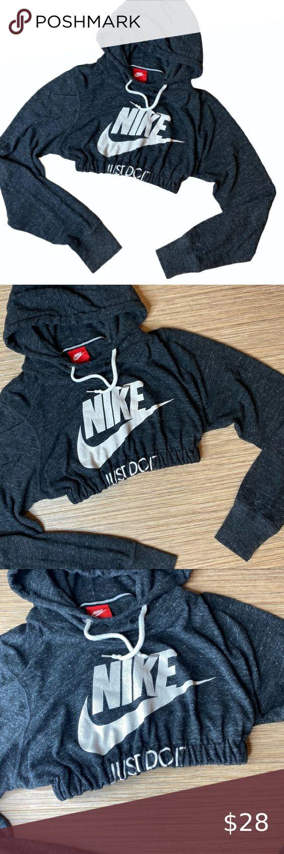 Nike Just Do It Reworked Cropped Hoodie Cropped Hoodie Hoodies Sweatshirts Hoodie [ 1692 x 564 Pixel ]
